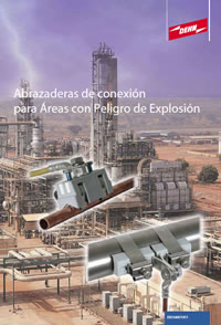 Abrazaderas de conexión para áreas explosivas