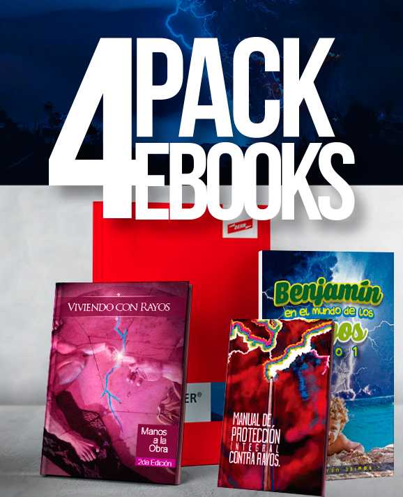 Pack x4 eBooks sobre rayos