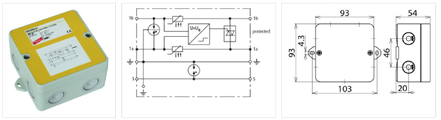 Especificaciones del DEHNbox DBX U4 KT BD S 0-180 (Referencia: 922400)