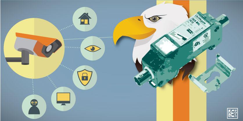 DEHNgate DGA BNC VCD, protege al ojo del águila (descargador para cámaras de seguridad)