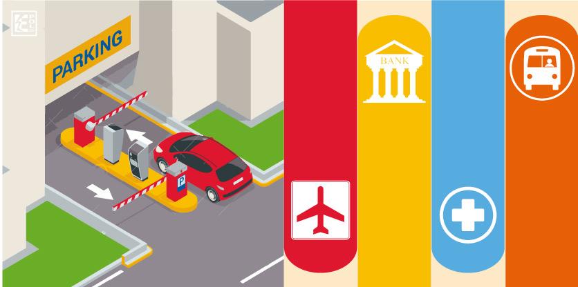 Procesos automatizados en aeropuertos, hospitales, transporte, etc.