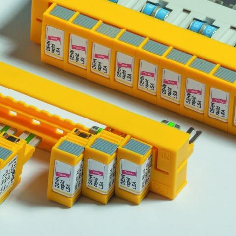DEHNrapid, supresor de picos contra rayos y sobretensiones para protección telefonía