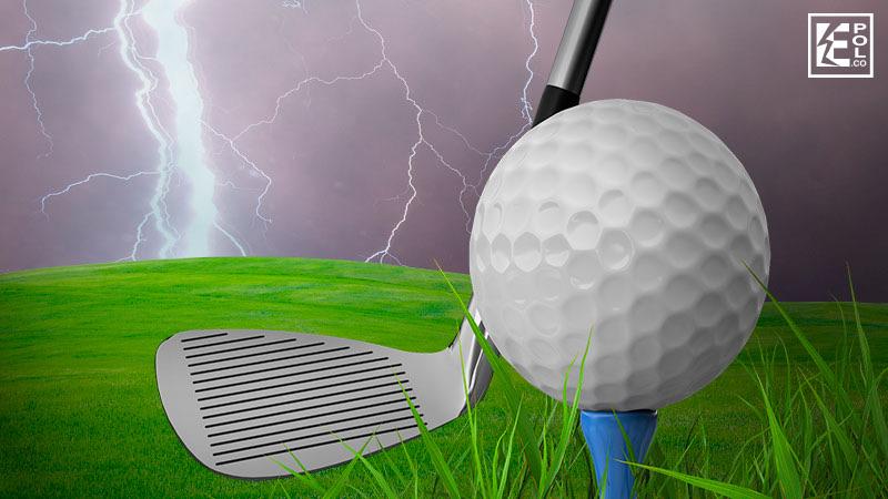 Pararrayos en campo de golf