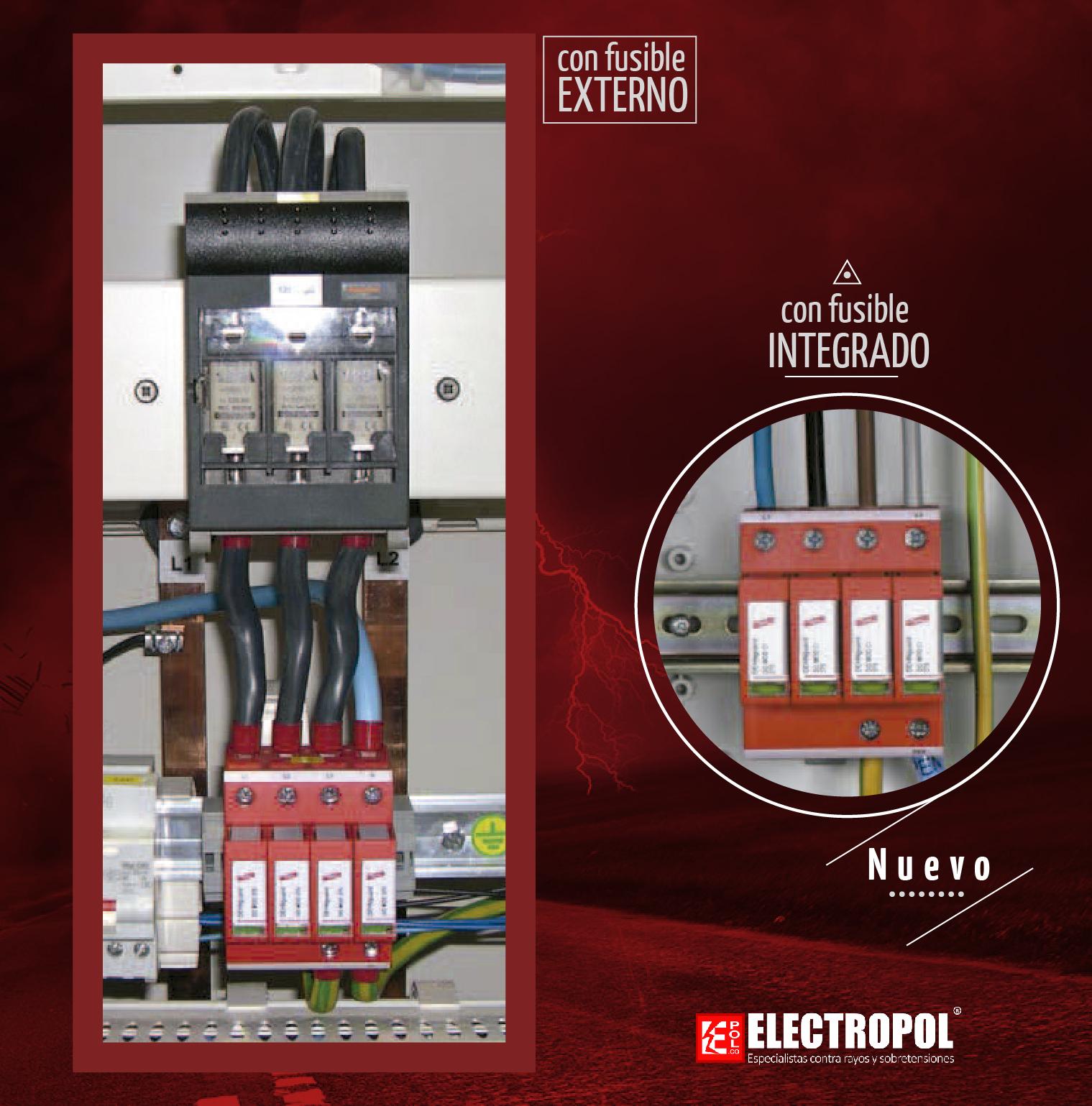 Descargadores con fusible integrado