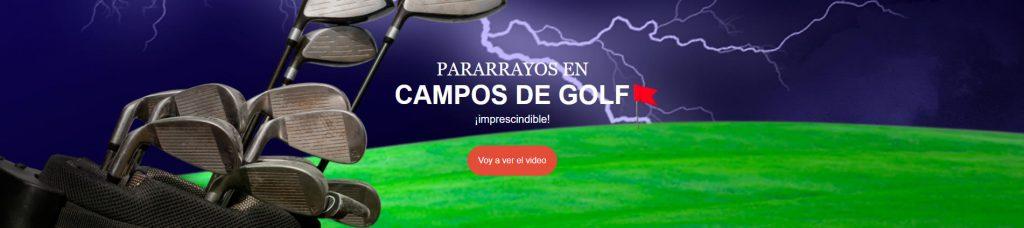 Pararrayos en campos de golf