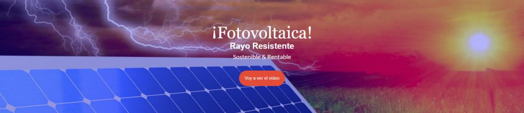 Fotovoltaica rayo resistente
