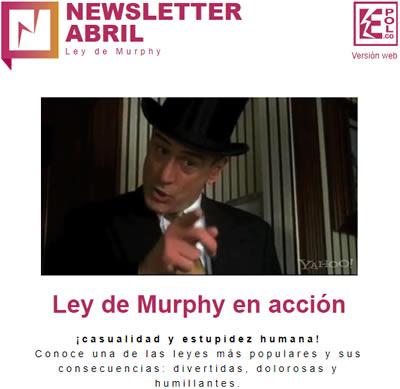 Ley de Murphy en acción  ¡casualidad y estupidez humana!
