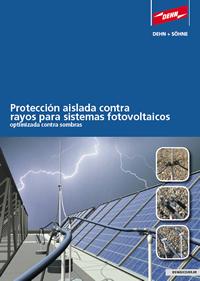 Protección aislada contra  rayos para sistemas fotovoltaicos