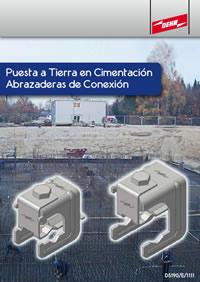 Puesta a tierra en cimentación con abrazaderas de conexión